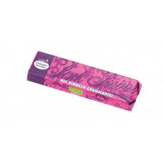 Schokoriegel weiß Himbeer Granatapfel