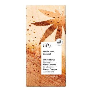 Weiße Hanf Caramel Schokolade